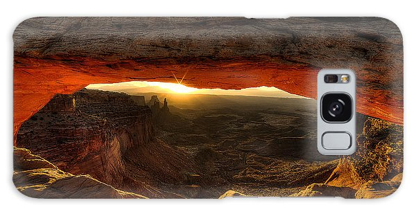 Morning Glow At Mesa Arch Galaxy Case