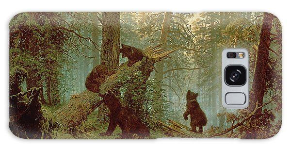 Pine Branch Galaxy Case - Morning In A Pine Forest by Ivan Ivanovich Shishkin