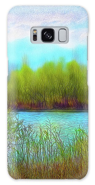 Morning Lake In Stillness Galaxy Case