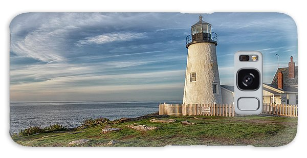 Morning Light At Pemaquid Point Galaxy Case