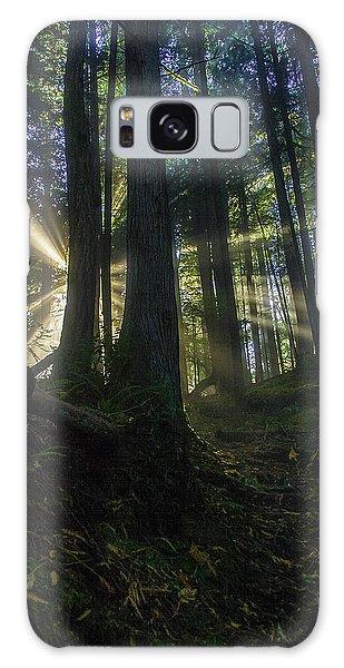 Morning Light Rays Galaxy Case