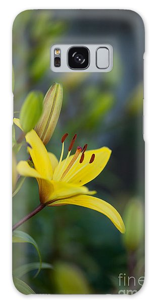 Lily Galaxy Case - Morning Lily by Mike Reid