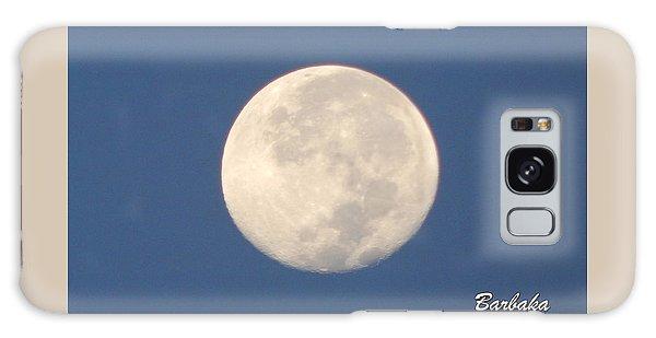 Morning Moon Galaxy Case by Barbara Tristan