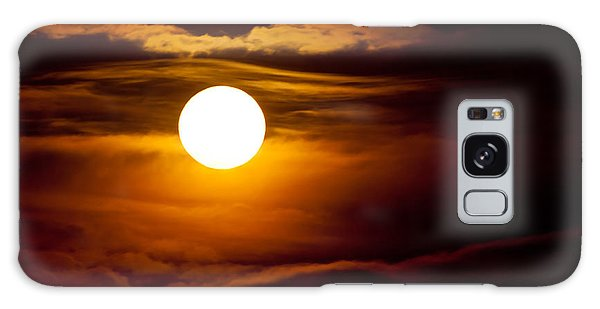 Morning Moonset Galaxy Case by Colleen Coccia