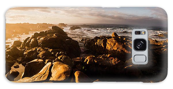 Angle Galaxy Case - Morning Ocean Panorama by Jorgo Photography - Wall Art Gallery