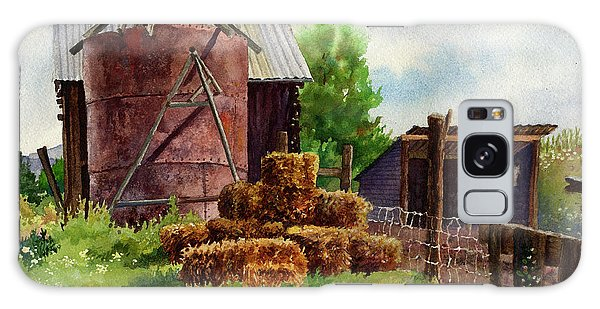 Morning On The Farm Galaxy Case by Anne Gifford