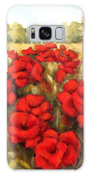 Morning Poppies Galaxy Case