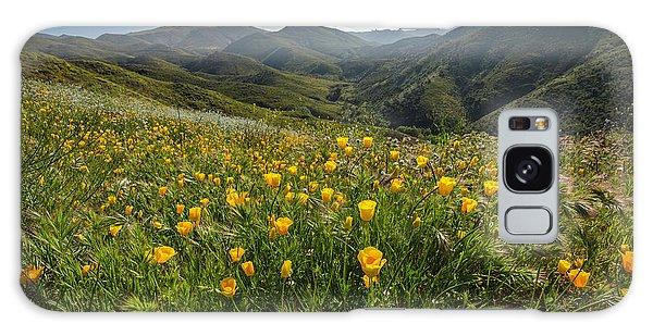 Morning Poppy Hillside Galaxy Case
