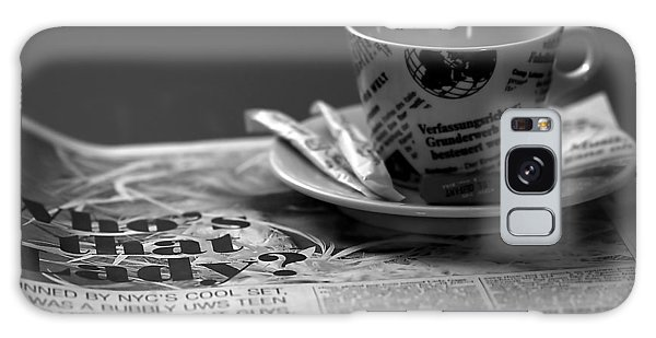 Cafe Galaxy Case - Morning Read by Evelina Kremsdorf
