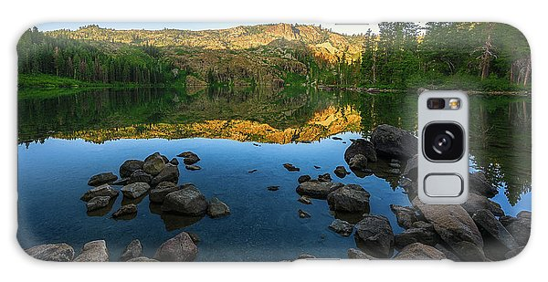 Morning Reflection On Castle Lake Galaxy Case