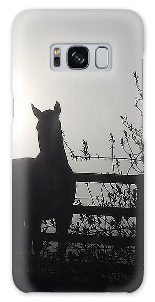 Galaxy Case featuring the photograph Morning Silhouette #1 by Deb Martin-Webster