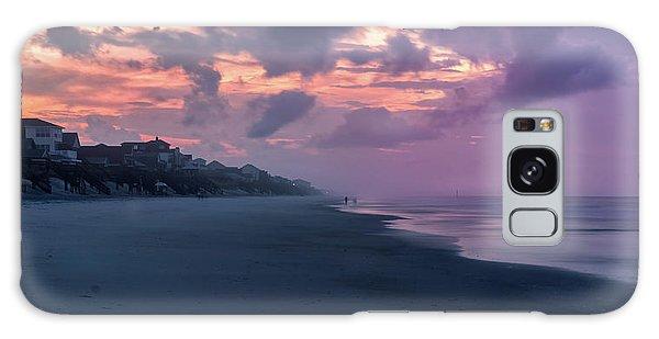Morning Stroll On The Beach Galaxy Case