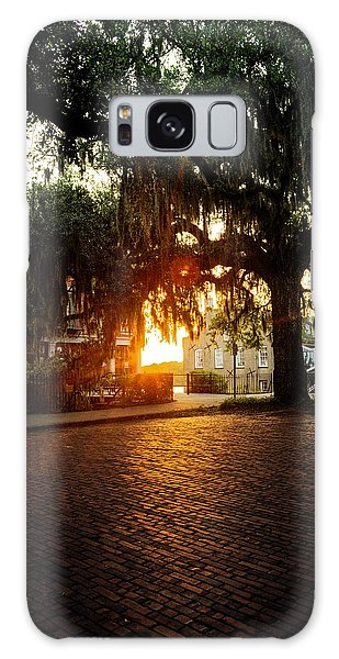 Morning Sun On The Bricks Of Savannah Galaxy Case