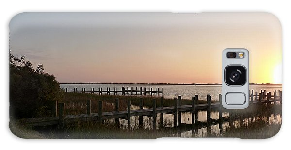 Morning Sunrise Over Assateaque Island Galaxy Case by Donald C Morgan
