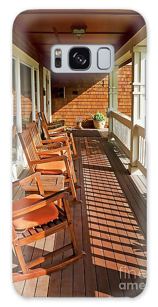 Morning Sunshine On The Porch Galaxy Case by Maria Janicki
