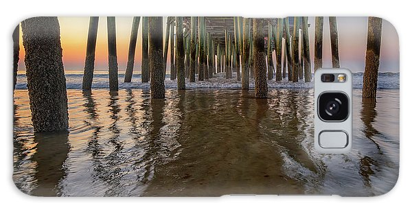 Galaxy Case featuring the photograph Morning Under The Pier, Old Orchard Beach by Rick Berk
