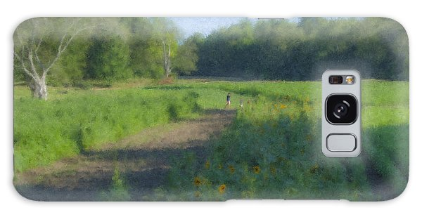 Morning Walk At Langwater Farm Galaxy Case