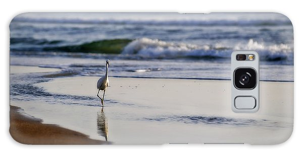 Morning Walk At Ormond Beach Galaxy Case by Steven Sparks