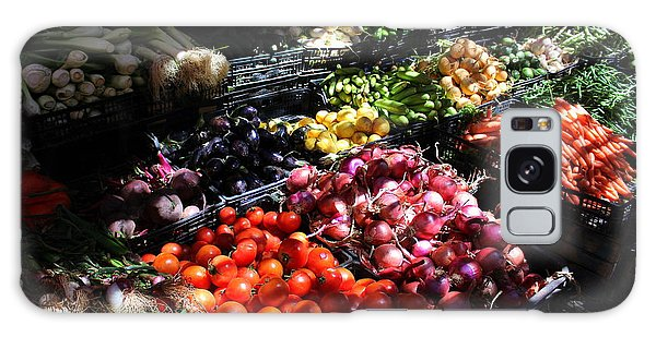 Galaxy Case featuring the photograph Moroccan Vegetable Market by Ramona Johnston