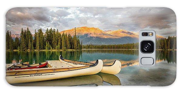 Jasper Lake Canoes Galaxy Case