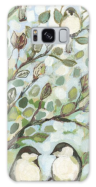 Impressionist Galaxy Case - Mo's Chickadees by Jennifer Lommers