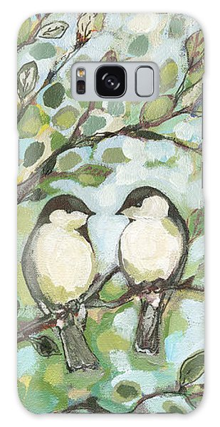 Chickadee Galaxy S8 Case - Mo's Chickadees by Jennifer Lommers