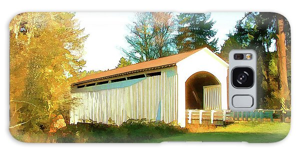 Mosby Creek Covered Bridge Galaxy Case by Wendy McKennon