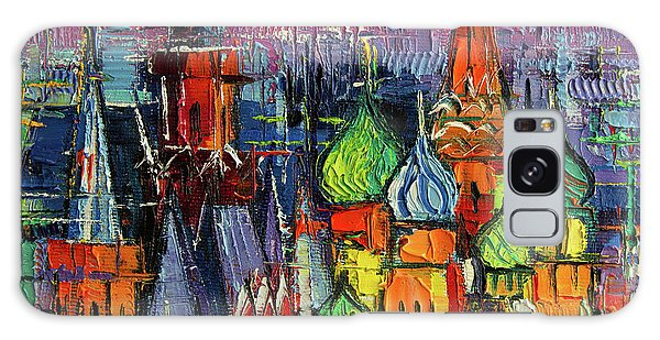 Russian Impressionism Galaxy Case - Moscow Red Square View Textural Impressionist Stylized Cityscape by Mona Edulesco