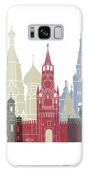 Moscow Skyline Poster Galaxy Case