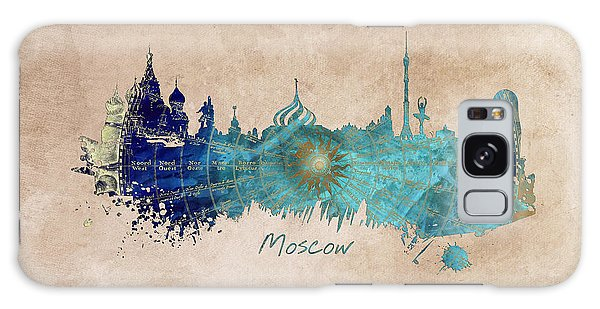 Moscow Skyline Galaxy S8 Case - Moscow Skyline Wind Rose by Justyna JBJart