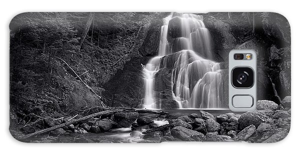 Tree Galaxy Case - Moss Glen Falls - Monochrome by Stephen Stookey