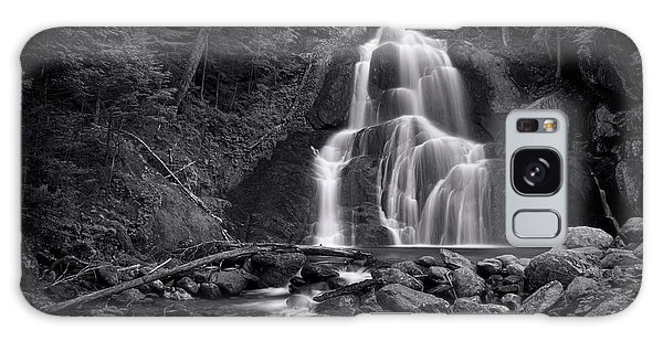 Galaxy Case - Moss Glen Falls - Monochrome by Stephen Stookey