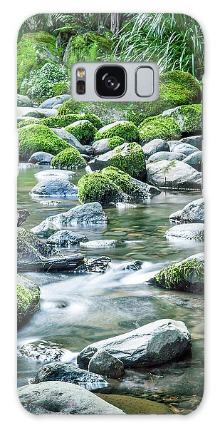 New Leaf Galaxy Case - Mossy Forest Stream by Az Jackson