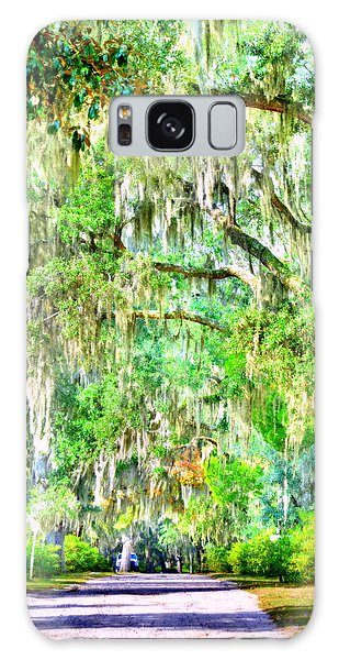 Galaxy Case featuring the photograph Mossy Oak Pathway H D R by Lisa Wooten