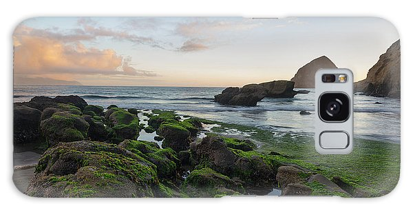 Mossy Rocks At The Beach Galaxy Case