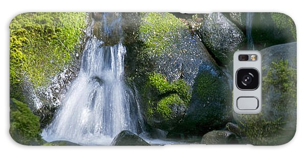 Mossy Rocks Stream Galaxy Case