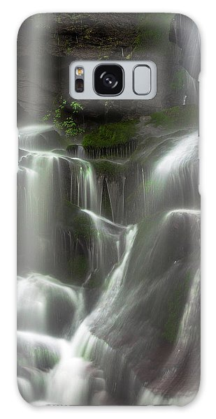 Mossy Waterfall Galaxy Case