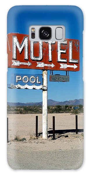 Motel Sign On I-40 And Old Route 66 Galaxy Case