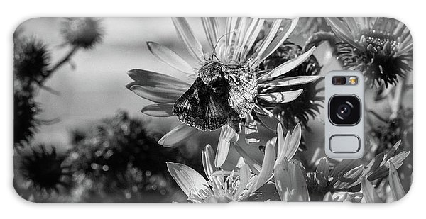 Moth And Flowers Galaxy Case