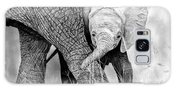 Hyper-realistic Galaxy Case - Mother And Baby Elephant by James Schultz