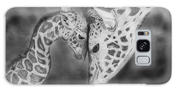 Hyper-realistic Galaxy Case - Mother And Baby Giraffes by James Schultz