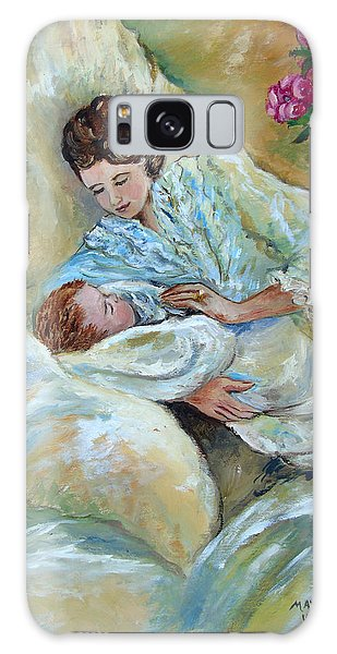 Mother And Child By May Villeneuve Galaxy Case