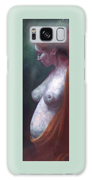 Galaxy Case featuring the painting Mother And Child by Ragen Mendenhall