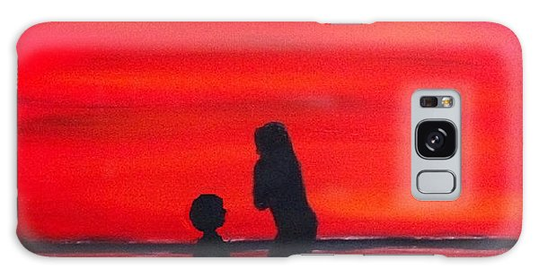 Mother And Child Galaxy Case by Rod Jellison