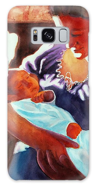 Mother And Newborn Child Galaxy Case