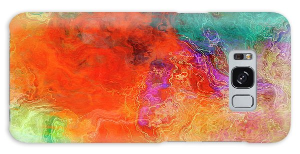 Mother Earth - Abstract Art - Triptych 2 Of 3 Galaxy Case