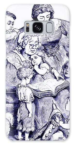 Mother Goose Reading To Children Galaxy Case by Marian Cates
