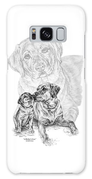 Mother Labrador Dog And Puppy Galaxy Case