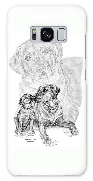Mother Labrador Dog And Puppy Galaxy Case by Kelli Swan