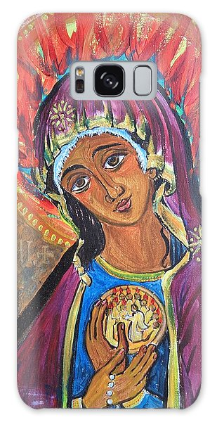 Mother Mary Of Pentecost Galaxy Case